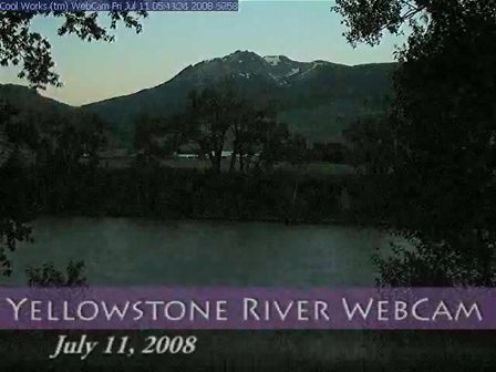 Yellowstone River WebCam Time Lapse - 24/7-11