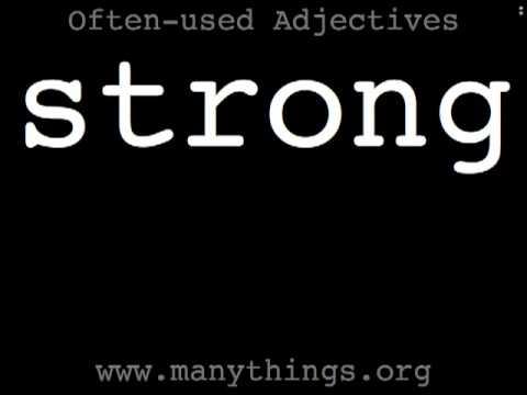 56 Often-used Engish Adjectives (ESL Pronunciation) 英単語 - 発音練習