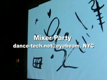 Mixer Party@Eyebeam/drawn - an installation for hands and ink, by zachary lieberman
