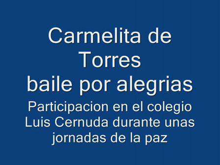 aegrias de Carmelita en colegio Luis Cernuda