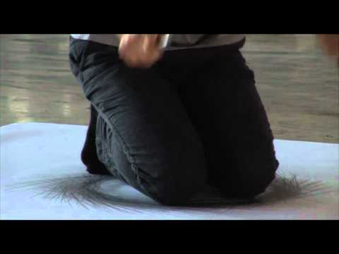 Tony Orrico  Penwald: 3: circle on knees