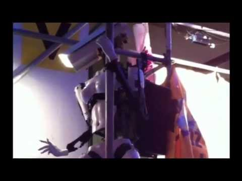 Pole dancing robots made by: Giles Walker