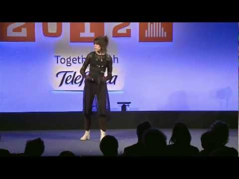 Imogen Heap Performance with Musical Gloves Demo: Full Wired Talk 2012