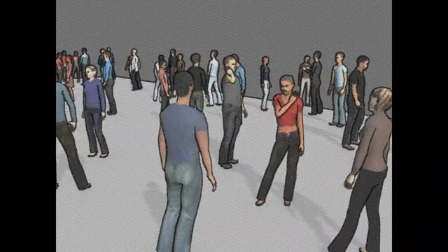 Compositions with Crowd Simulation