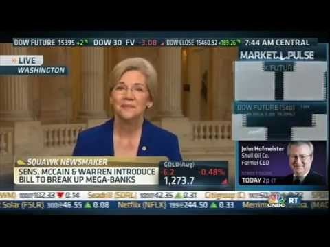 Senator Warren Schools Pro-Deregulation CNBC Hosts