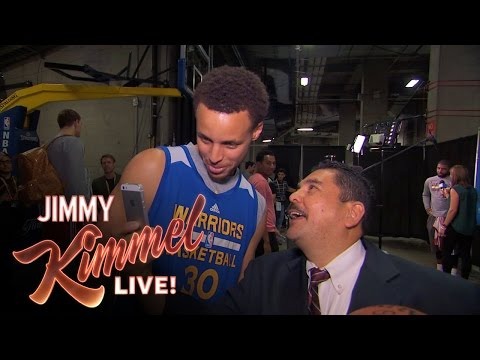 Guillermo from Jimmy Kimmel Takes over NBA Finals Media Day
