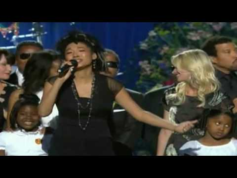 "Judith Hill performs ""Heal The World"" at Michael Jackson Memorial"