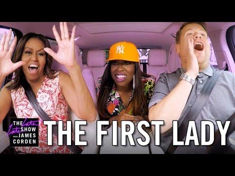 Watch First Lady Michelle Obama with Missy Elliott in Carpool Karaoke