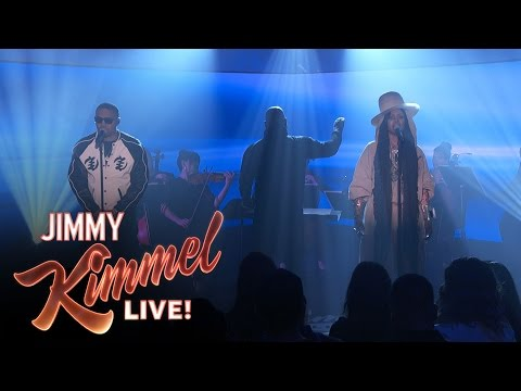 "Nas & Erykah Badu Perform ""This Bitter Land"" on Jimmy Kimmel"