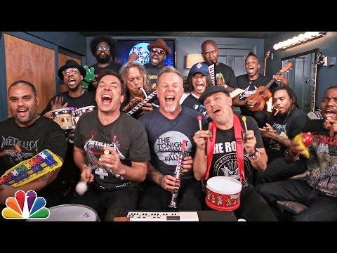 "Jimmy Fallon, Metallica & The Roots Sing ""Enter Sandman"" w/ Classroom Instruments"