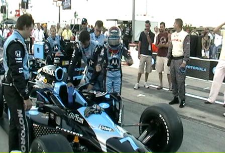 Into the race car!