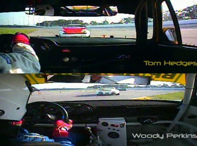 Tom Hedges and Woody Perkins Racing their 935's at Rennsport III