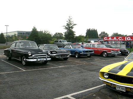 Classic American Car Day at Brooklands Museum, UK.