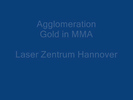 Agglomeration of Gold nanoparticles in Monomer (MMA)