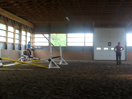 Filou and I jumping <3