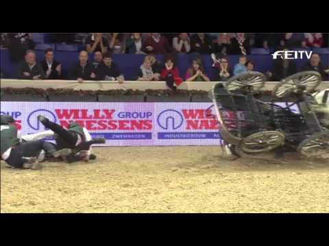 FEI World Cup Driving 2012/13 Mechelen - IJsbrand Chardon 3rd Place
