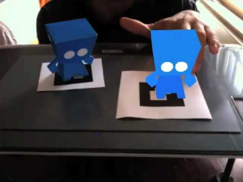 Real paper vs Virtual 3Diddi - Augmented Reality