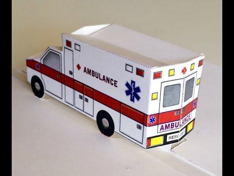 Pop-up Paper Ambulance