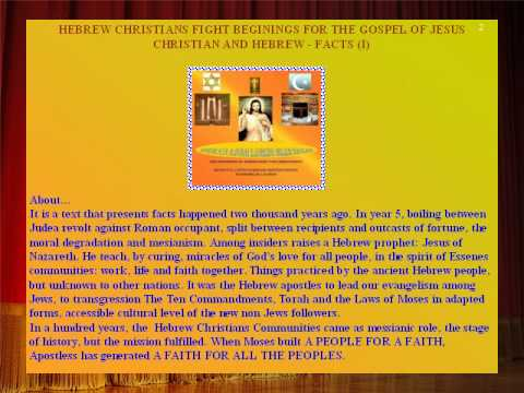 CHRISTIANS AND HEBREWS - DOCUMENTARY FACTS -Vasile_Mesaros-Anghel- JUNE 2010 SLIDESHOW.AVI
