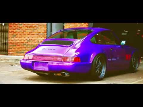Custom Candy Amethyst wrap on a Porsche 964