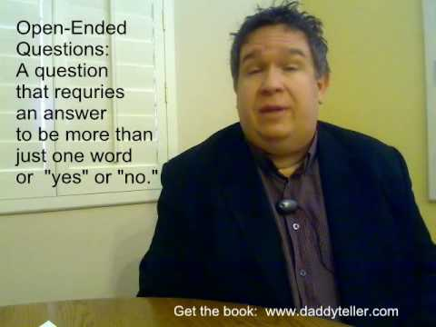 DaddyTeller™ 3: Use Open Ended Questions in Bedtime Stories