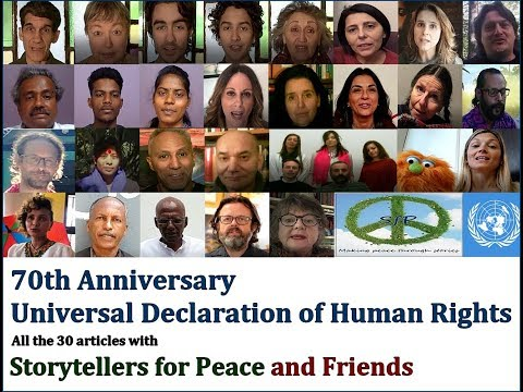 70th Anniversary Universal Declaration of Human Rights Video by Storytellers for Peace (Sub Eng Ita)