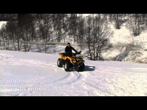 Can-am max outlander 400 driving on 2 m of snow