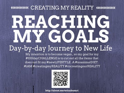 Creating my Reality by Reaching my GOALS in LIFE: My One Year Transformation Plan Part 1