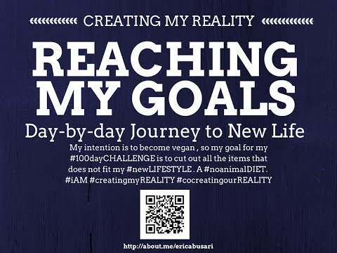 Creating my Reality by Reaching my GOALS in LIFE 100day Challenge DAY 088
