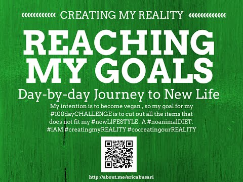 Creating my Reality by Reaching my GOALS in LIFE 100day Challenge DAY 074