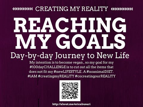 Creating my Reality by Reaching my GOALS in LIFE 100day Challenge DAY 085