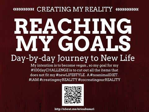 Creating my Reality by Reaching my GOALS in LIFE 100day Challenge DAY 086