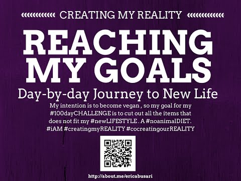 Creating my Reality by Reaching my GOALS in LIFE 100day Challenge DAY 087