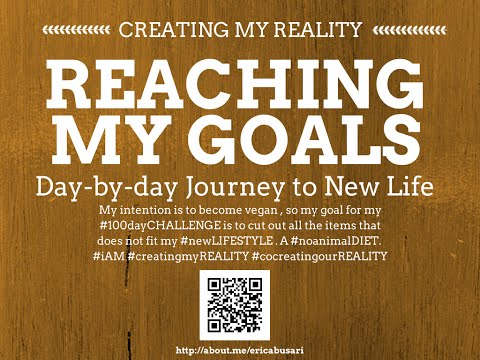 Creating my Reality by Reaching my GOALS in LIFE 100day Challenge DAY 073