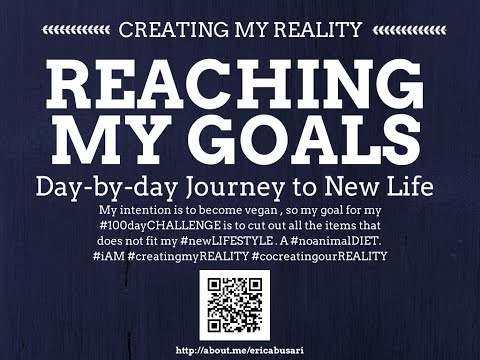 Creating my Reality by Reaching my GOALS in LIFE 100day Challenge DAY 078
