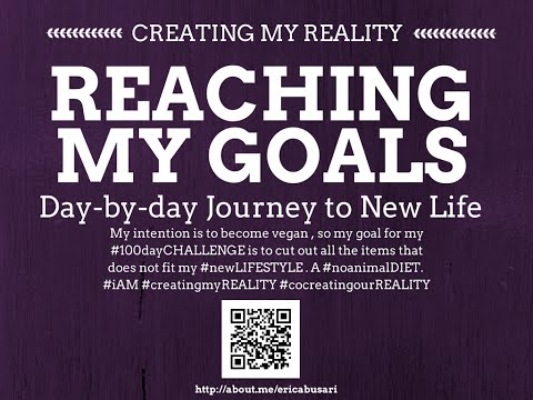 Creating my Reality by Reaching my GOALS in LIFE 100day Challenge DAY 081