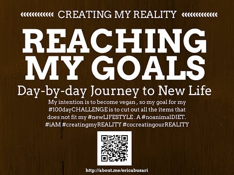 Creating my Reality by Reaching my GOALS in LIFE 100day Challenge DAY 084