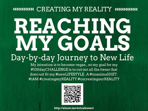 Creating my Reality by Reaching my GOALS in LIFE: One Year Transformation Plan Part 2