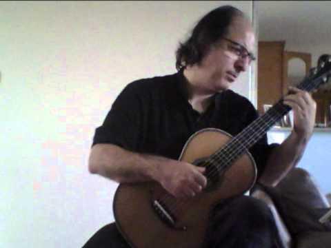 allegretto n°22  opus 35  de Fernando  Sor (1778-1839)  sur une guitare romantique signée   Hagen
