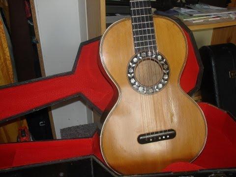 Abendlied  de Johann Kasper  Mertz  sur une guitare  historique thibouville-lamy  fin 19eme