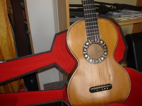 Etude  de Johann Kasper  Mertz  sur une guitare  historique thibouville-lamy  fin 19eme