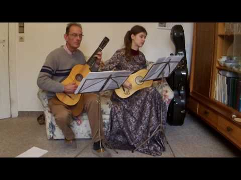 1. Allemande   Nathanael Diesel (1692 - 1745) Suite in D for 2 Baroque Guitars