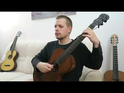Anonymous (J. S. Bach?) - Minuet in D minor, BWV Anh 132 - authentic J. G. Stauffer guitar