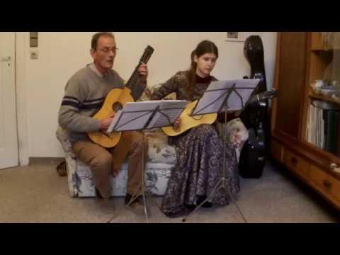 Lamenta - Rigadon - Nathanael Diesel (1692 - 1745) in d for 2 Baroque Guitars