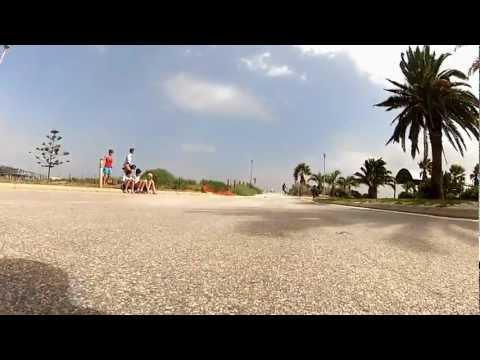 Longboarding slow mo slides