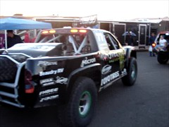 Robby Gordon Warming Up His Monster Trophy Truck