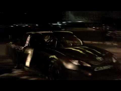 KYLE LOZA TAKES ROBBY GORDON'S NEW NASCAR RACE CAR FOR A DRIVE