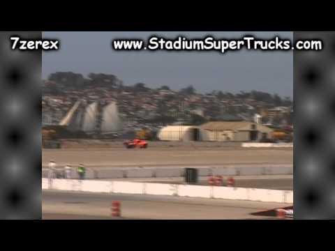Robby Gordon's SPEED Energy Super Truck Unloading and Setup Coronado Speed Festival 9-21-204