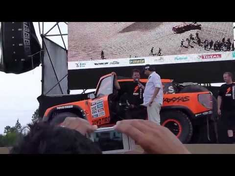 Robby Gordon Interview & ramp jump Salta, Argentina Dakar 2014