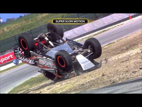 "Jose Maria ""Pechito"" Lopez Rolls Stadium Super Truck Race Of Champions Barbados 2014"